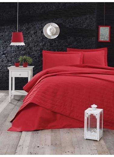 Eponj Home Monart Kapitoneli Yatak Örtüsü Çift Kişilik  Kırmızı